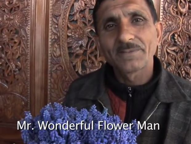 KASHMIR: MR WONDERFUL FLOWER MAN